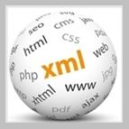 Weiße Kugel mit Begriffen aus dem Bereich IT und Websites