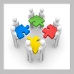 Unternehmenserfolg durch gute Übersetzungen. Die vier Elemente sind dafür Service, Qualität, Flexibilität und Partnerschaft